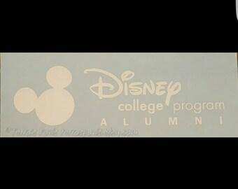 Disney College Program ALUMNI indoor/outdoor decal