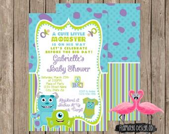 Monsters Inc Inspired Baby Shower Invitation