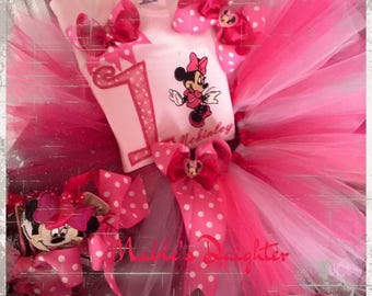 SALE Minnie Mouse Tutu Set and matching Converse
