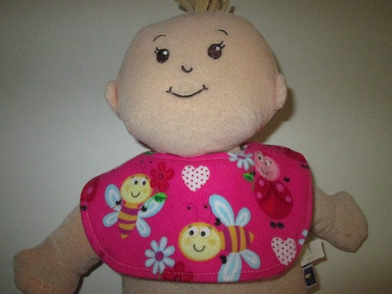 Reversible Doll Bib Fits Baby Stella Doll Wee Baby Stella