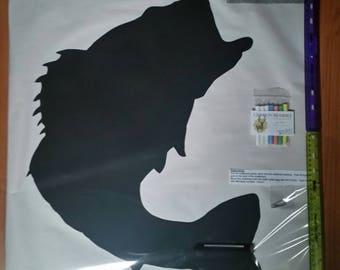Large Mouth Bass Shaped Chalkboard