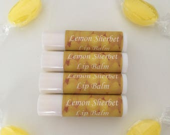 Lemon Sherbet Flavoured Lip Balm (with mica)