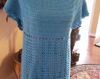 Handmade crochet summer sweater.