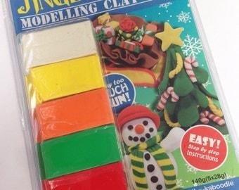 DIY Christmas Polymer Clay Kit - kids sculpey modelling kit 1