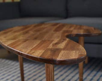 MCM Mid-Century Inspired Coffee Table, Boomerang Style Version 1