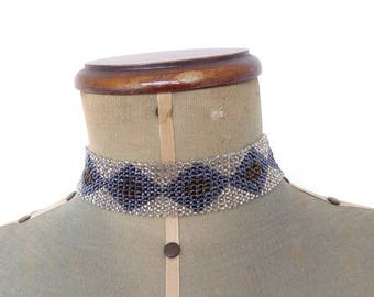 Necklace Vintage Geometric Art Deco Flapper Choker