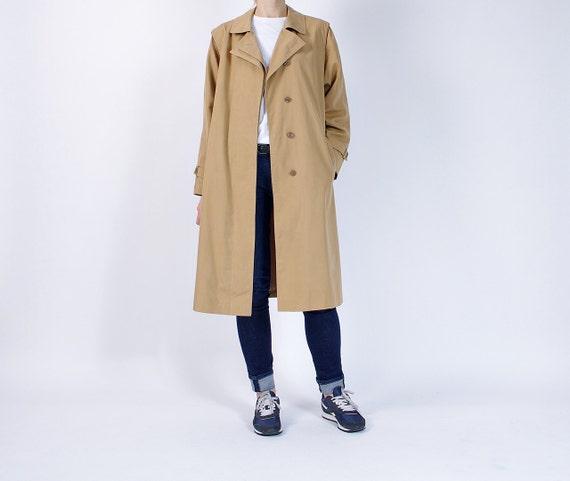SALE 40% OFF - 80s Cora Fashion Polish Old School Retro Women Trench Coat / Size L/XL