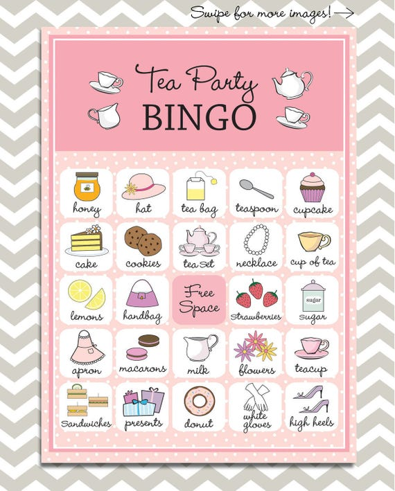 Vibrant image intended for free printable tea party games