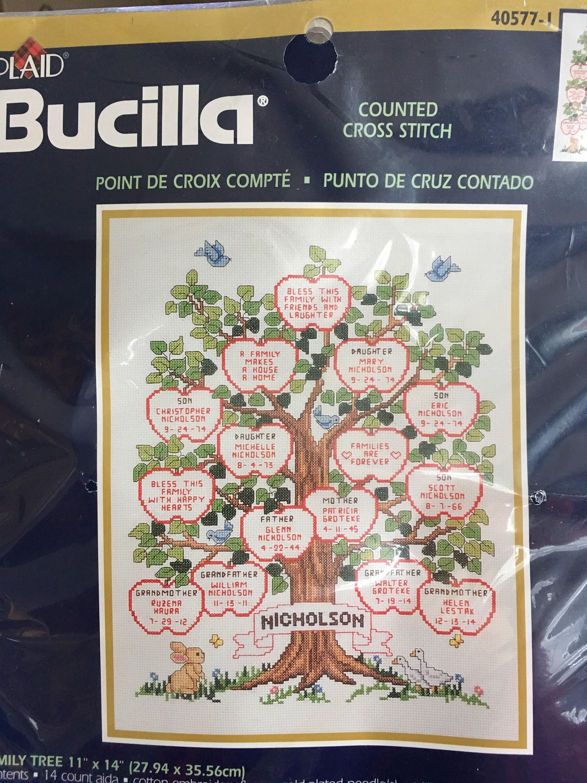 bucilla cross stitch instructions