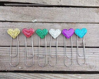 Bookmark, Bookmarker, Heart, Glitter, Heart Bookmark, Glitter Heart Bookmarker, for Book lovers