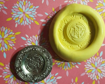 Fancy, Miniature Plate Flexible Silicone Mold for polymer clay,  resin,  wax,  etc.