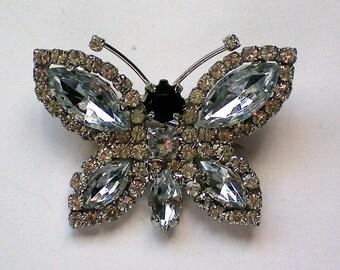 Fabulous Rhinestone Butterfly Pin - 5040