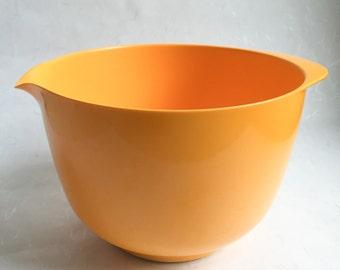 60's Yellow Danish Mixing Bowl, Bright orange Rosti Mepal Margrethe mixing bowl 2 l, dough maker, retro kitchen, gift for her