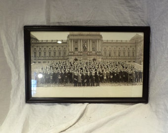 Group Photo, Black & White, Harrisburg PA Consistory, Religious History Salvage