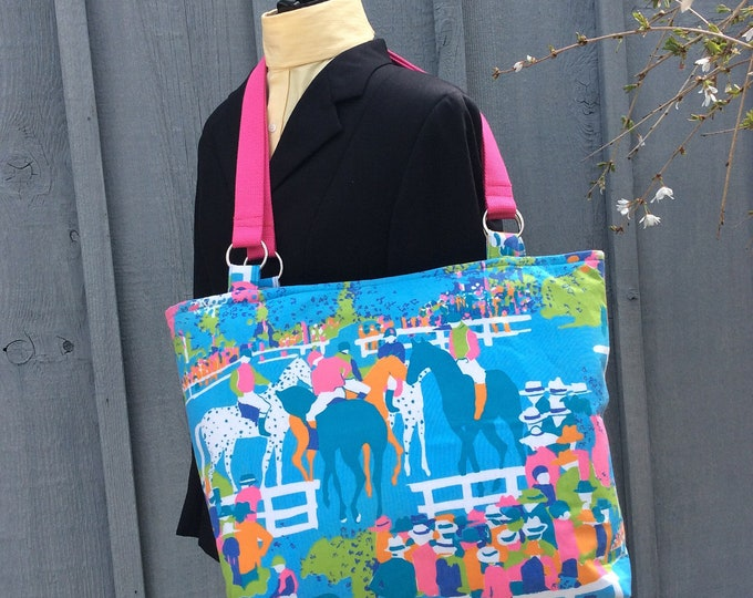 Equestrian Kentucky Derby Horse Race Tote Purse