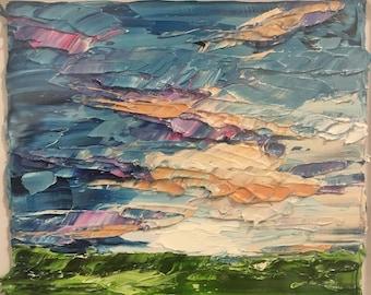 Summer Sunrise - Impasto Landscape