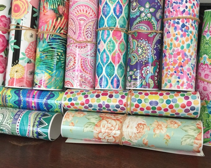 Featured listing image: Printed Vinyl // Lilly Inspired Vinyl // Lilly Vinyl Sheets //Patterned Outdoor Vinyl, Indoor Vinyl and HTV //  Patterns 58-126