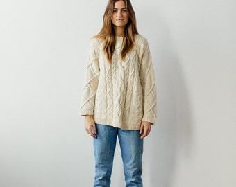 cream vintage Eddie Bauer sweater