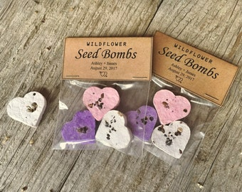 100 Wildflower Seed Bomb Wedding Favors