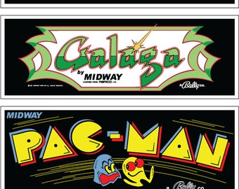 Arcade Machine Wall Marquees - 6 Pack (Set 1)