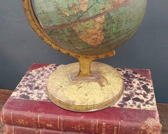 Vintage 1930s Tin Litho Globe By Chein & Co.