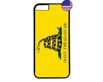 Don't Tread On Me Black Case Cover for iPhone 4 4s 5 5s  5C 6 6s 6 Plus 7 7 Plus iPod Touch 4 5 6 case Cover