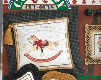 Puppy Bows ~ craft items Daisy Kingdom No Sew Applique #19128 Christmas rocking horse toys