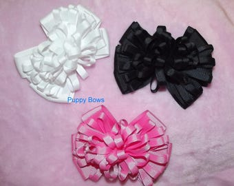 Becky Bows ~  Hand crafted  BIG hair bow Women or Girls giant loopy loop pink black or white