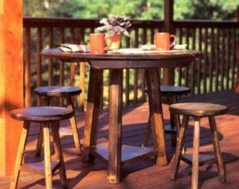 Dining Table With Stools Woodworking Plans
