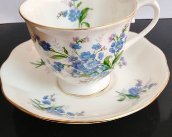 Royal Albert, England, 'Forget me not', tea cup, 1950's