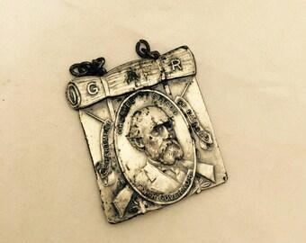 Antique Civil War Memorabilia - Charles Robinson Kansas War Governor Medal