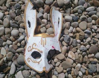 Leather splicer bioshock rabbit bunny mask cosplay blood splatter