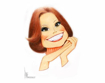 Mary Tyler Moore art print signed by Dave Woodman