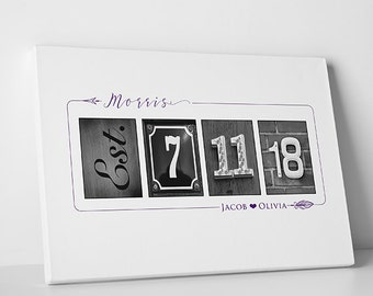 Personalized Wedding Alphabet Art Guest Book - Wedding Decoration for Bride and Groom, Custom Signature Guest Book