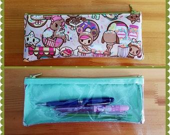 Ju-ju-be dss pencil case, cosmetic pouch, donutella