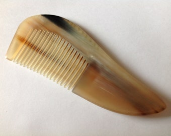 Organic Oxhorn Comb Fine Tooth X5F Beard Comb Hair Comb Unique Pattern By Beard Basics