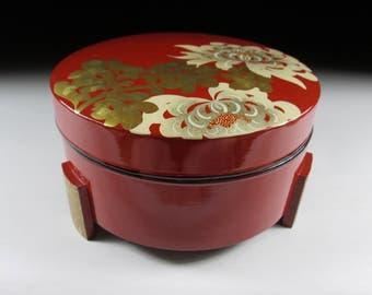 Vintage Urushi Lacquerware Jubako, Makie Jubako, Koedo