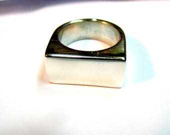 Rectangular ring 925 Silver