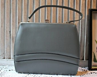 Vintage! Gray/blue. Handbag. 1950s. Lovely bag! Very cute!