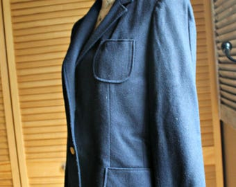 Vintage. Personal. Jacket. 1960's. Size 10. Wool. Dark blue.