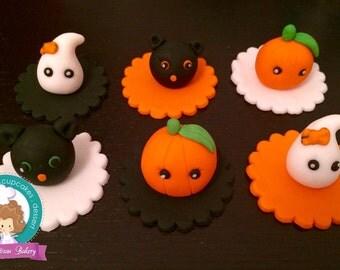 Halloween fondant cupcake topper