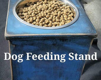 Dog Feeder, Elevated Dog Bowls, Raised Dog Bowl, Dog Bowl Station