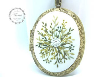 Locket,Mothers Day from Daughter-from Son,Gift Photo Locket Necklace-Mom Locket Necklace,Flower Necklace-Flower Jewelry,Locket for Her