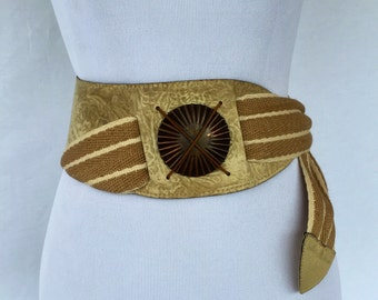 Super Cool R.J. Graziano Leather/Rope and Copper Belt