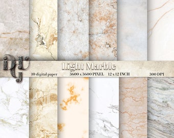 WHITE Marble digital paper. Natural Marble Photo Digital Paper Pack, Stone texture paper,Marble Photo Background, Stone Photo Backdrop 127B