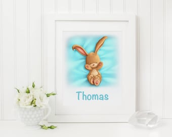 Personalised Baby Bunny Print