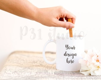 Mug Styled Stock Photo Mockup // Natural Organic Styled