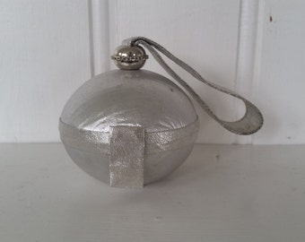 SALE! New Year's Eve • 1960s Silver Sphere Purse