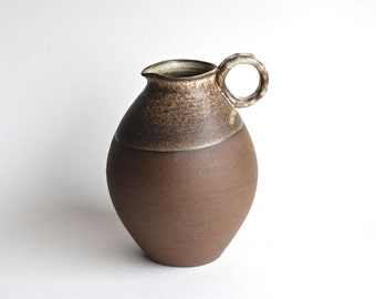 Ancient Inspired Water Jug - Black & White Handmade Pottery - Ceramic Vase - Ceramic Bottle - Rustic Vase - Ceramic Wine Jug - Water Jug