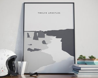 12 Apostles, Australia. Twelve Apostles Print. Poster.